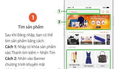 Hướng dẫn mua hàng trên App Shopee vn